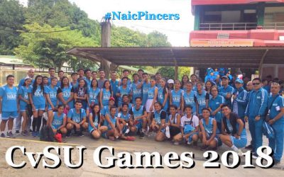 CvSU Naic delegates join the Opening Program of University Games at CvSU Main Campus.