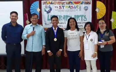Congratulations Mr. Roland De Mesa, BSEd IV, second place in Dagliang Talumpati during the 4th STRASUC Culture and the Arts Festival at Laguna State Polytechnic University